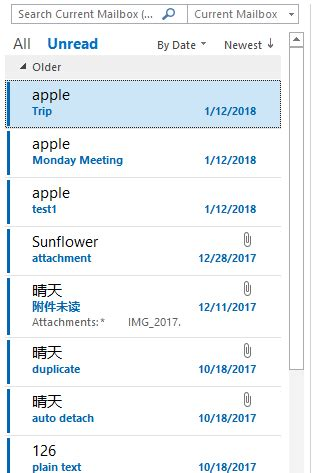 How to change the font color of unread message in Outlook?