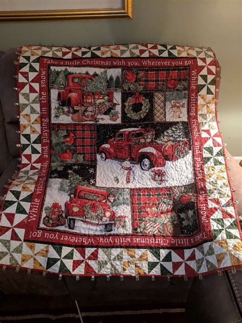 Christmas panel quilt | Christmas quilts, Christmas quilt