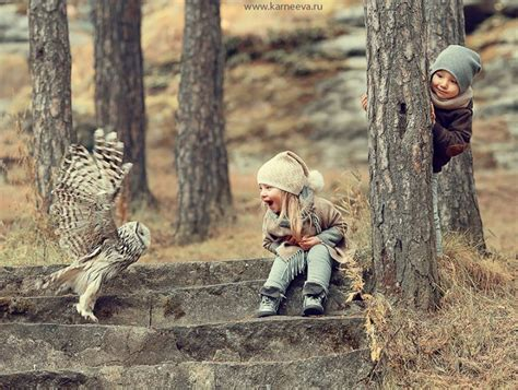 Rurally cute photoshoots of children and animals playing