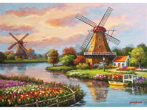 Puzzle Windmills Art-Puzzle-4354 1000 pieces Jigsaw