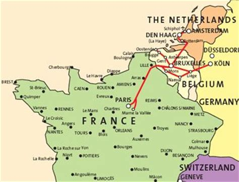 Thalys high-speed train in 2019   Europe train, France map