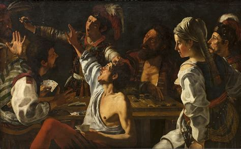 Theodoor Rombouts - Card and Backgammon Players, Fight ove