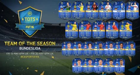 Bundesliga TOTS FIFA 16 release time with lineup – Product