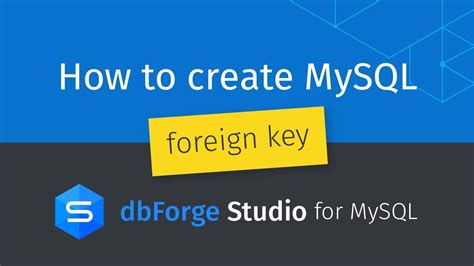 How to create MySQL foreign key between two tables? - YouTube