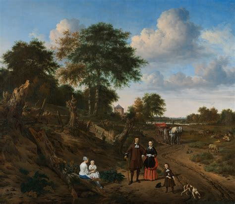 Portrait of a couple with two children and a nursemaid in